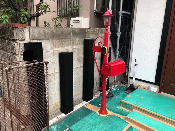 大阪府東大阪市 N様邸 屋根塗装・外壁塗装・付帯部塗装 外構、ポスト塗装 (2)