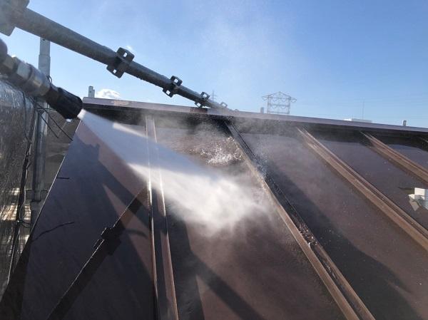 大阪府東大阪市 N様邸 屋根塗装・外壁塗装・付帯部塗装 下地処理 高圧洗浄 (2)