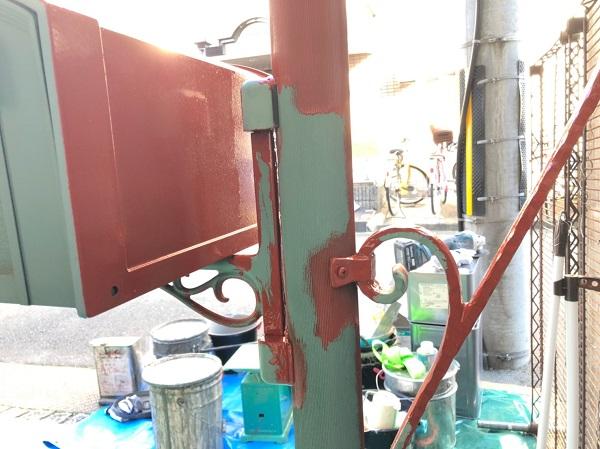 大阪府東大阪市 N様邸 屋根塗装・外壁塗装・付帯部塗装 外構、ポスト塗装 (5)