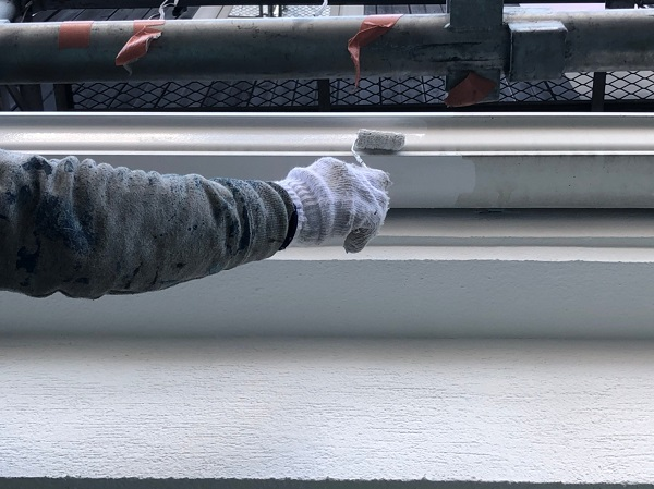 大阪府東大阪市 N様邸 屋根塗装・外壁塗装・付帯部塗装 水切り、雨樋塗装 (7)