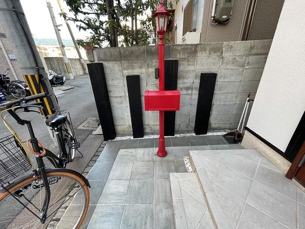 大阪府東大阪市 N様邸 屋根塗装・外壁塗装・付帯部塗装 外構、ポスト塗装 (6)