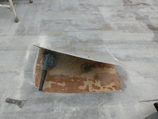 大阪府東大阪市 N様邸 屋根塗装・外壁塗装・付帯部塗装 屋上防水工事 施工前の状態 膨れ (7)