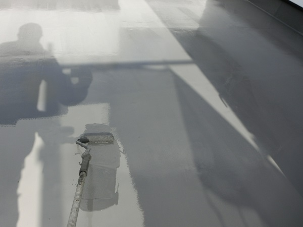 大阪府東大阪市 N様邸 屋根塗装・外壁塗装・付帯部塗装 ベランダ防水工事 FRP工法 (4)