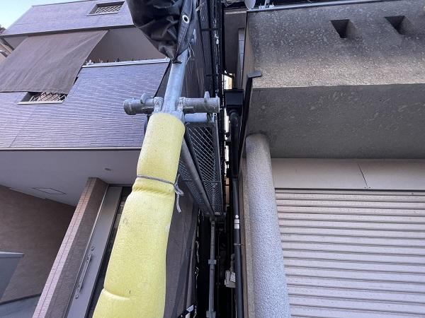 大阪府東大阪市 屋根塗装・外壁塗装 足場設置 飛散防止ネット (7)