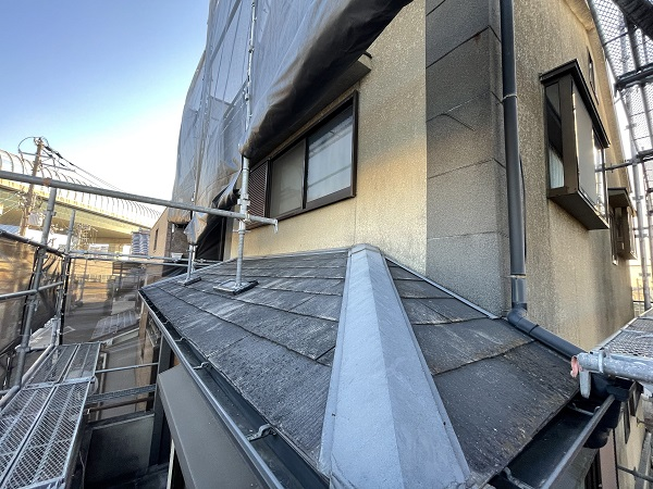 大阪府東大阪市 屋根カバー工法・外壁塗装・付帯部塗装 足場解体 完工 (3)