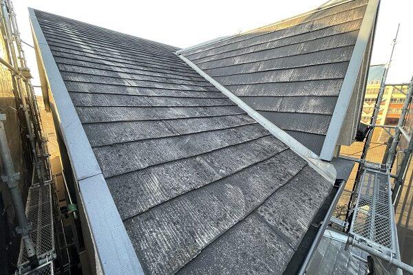 大阪府東大阪市 屋根塗装・外壁塗装 施工前の状態(外壁) 汚れの原因とは ひび割れ (15)