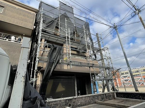 大阪府東大阪市 屋根カバー工法・外壁塗装・付帯部塗装 足場解体 完工 (11)