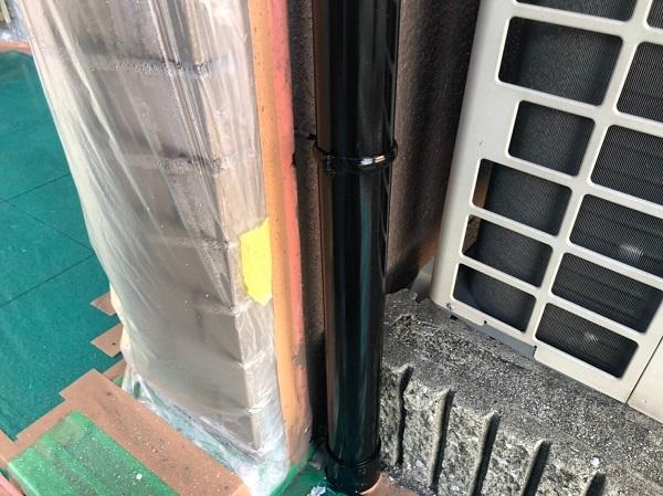 大阪府東大阪市 屋根塗装・外壁塗装 付帯部塗装 雨樋塗装の工程 (3)